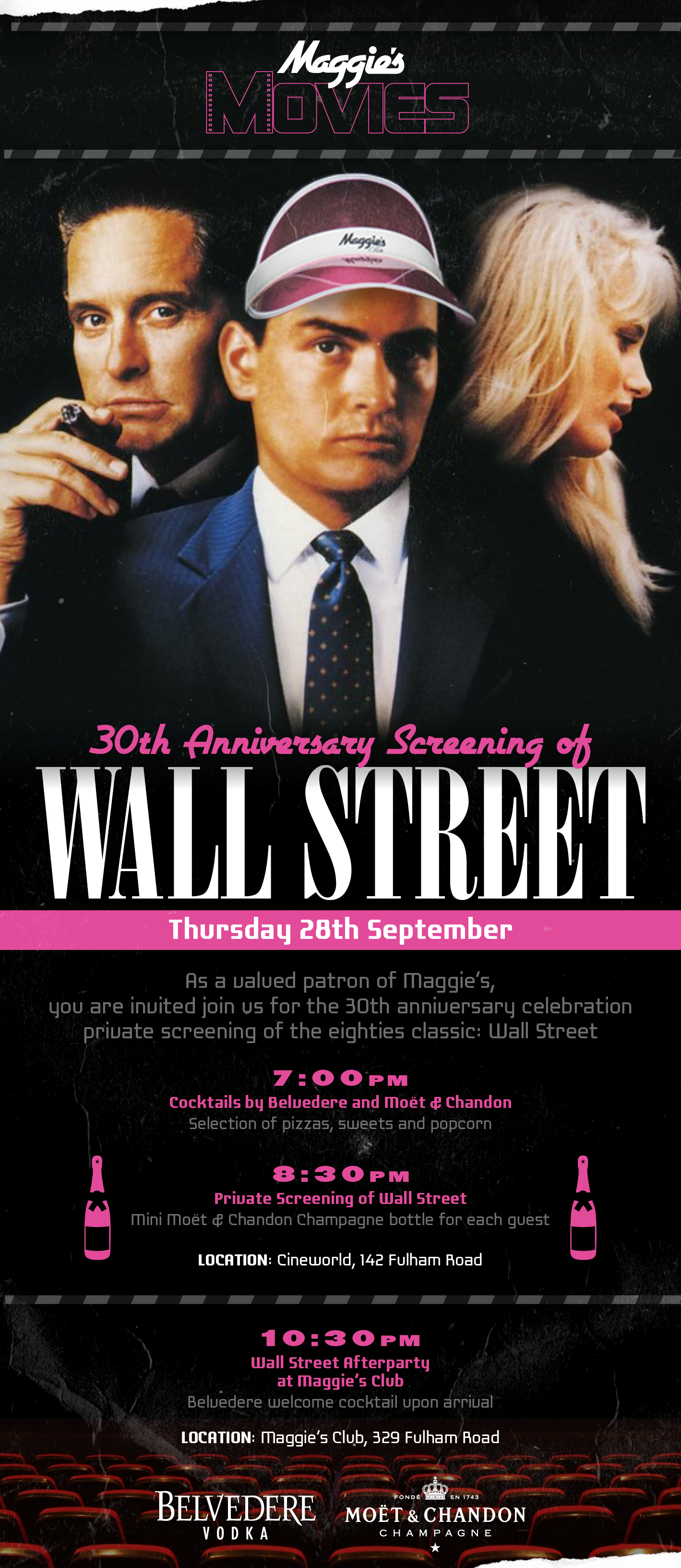 screening of the 80�s classic wall street 1987 maggie